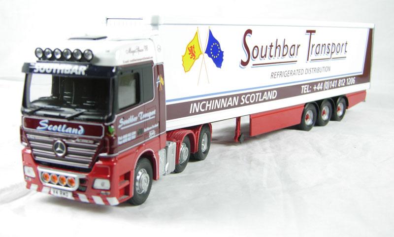 CORGI MODERN Transport Lourd CC13802 MERCEDES ACTROS frigo southbar 1 50