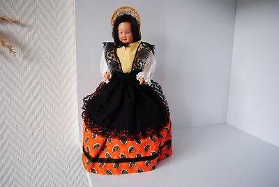 (n°7) Ancienne Poupee Folklorique Doll Petitcollin Region Lyon