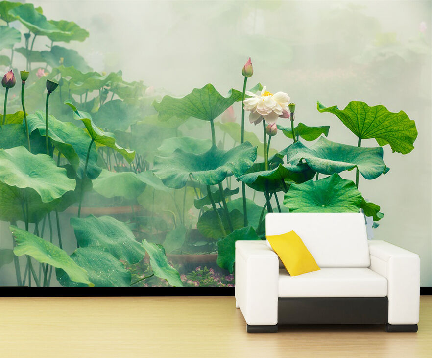 3D High lotus leaves 3880 Wall Paper Print Wall Decal Deco Indoor Wall Murals