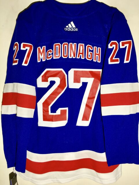 c8b381cea65 adidas Authentic NHL ADIZERO Jersey New York Rangers Ryan McDonagh Blue sz  52