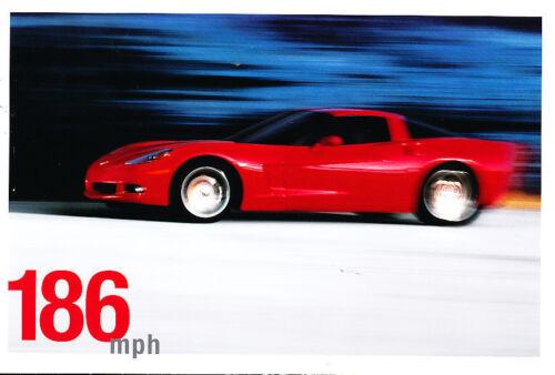 2005 Chevrolet Corvette 186mph Sales Brochure Sheet