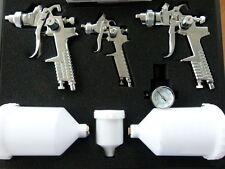Lackierpistolen Koffer Set, 2 x HVLP,1x Spotrepair Lackierpistole 0,8mm Düse
