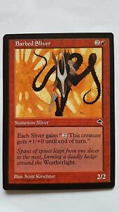 1x BARBED SLIVER - Rare - Tempest - MTG - NM - Magic the Gathering