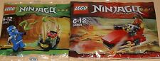 2x Lego Ninjago! Roter Ninja Kai und Blauer Ninja Jay mit viel Zubehör OVP