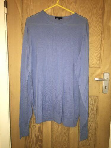 merino in John lungo lana c1 leggera Xl Atoa27 Maglione taglia L30 Smedley blu UwXXqrFA