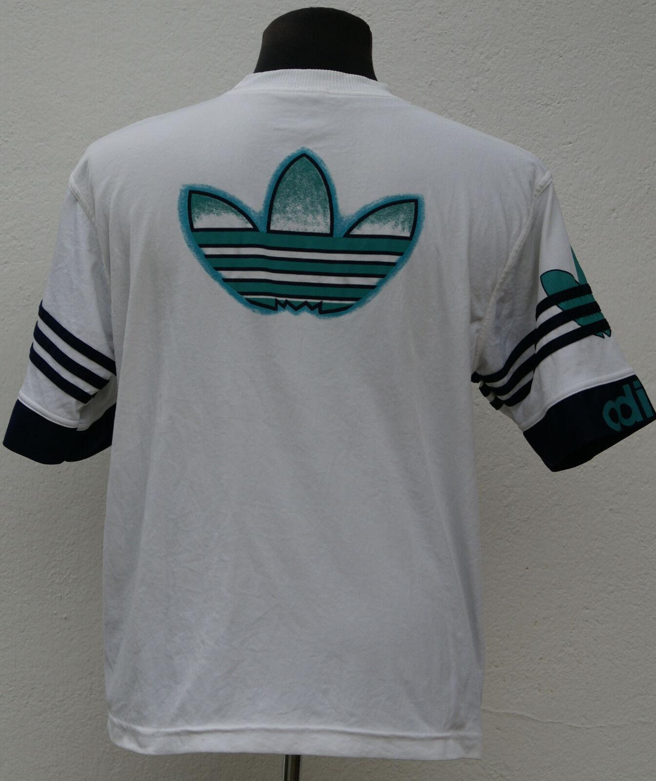 VTG Vintage '80 Adidas W Germany hip hop t-shirt tee sz L (large)
