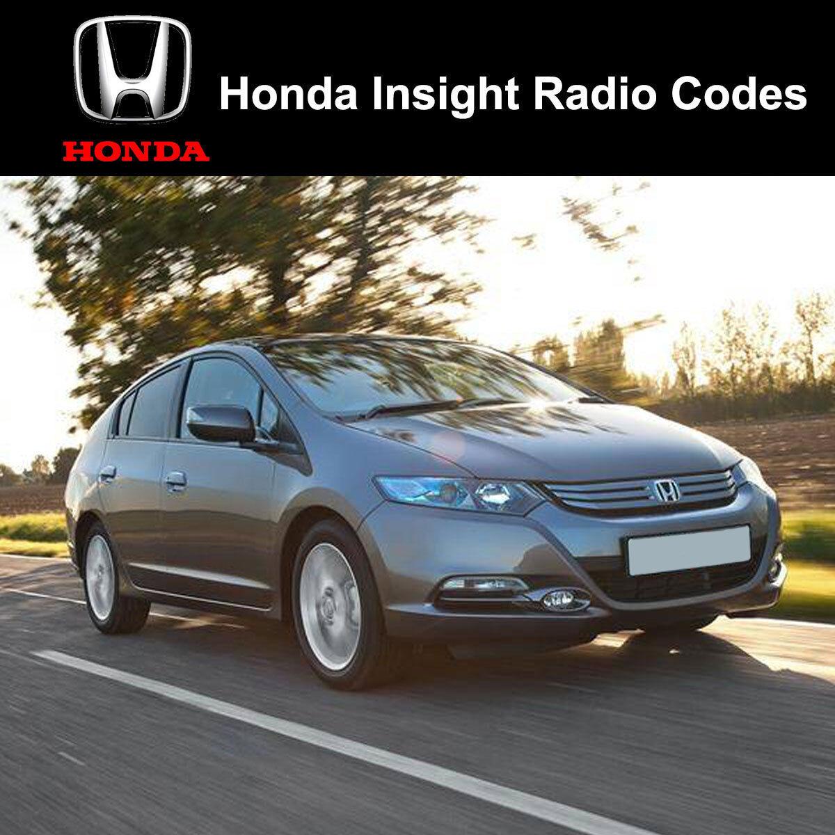 Honda Insight Radio Code Stereo Codes Fast Unlock Service Uk Ebay