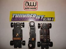 Auto World ~ 10 NEW Thunder-Jet Ultra G Chassis ~ FITS Aurora , AW, JL Bodies