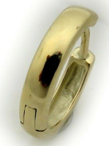 Messieurs Boucle d/'Oreille Single pliante Créole vraiment Gold 750 difficile 14 mm jaune 18 ct