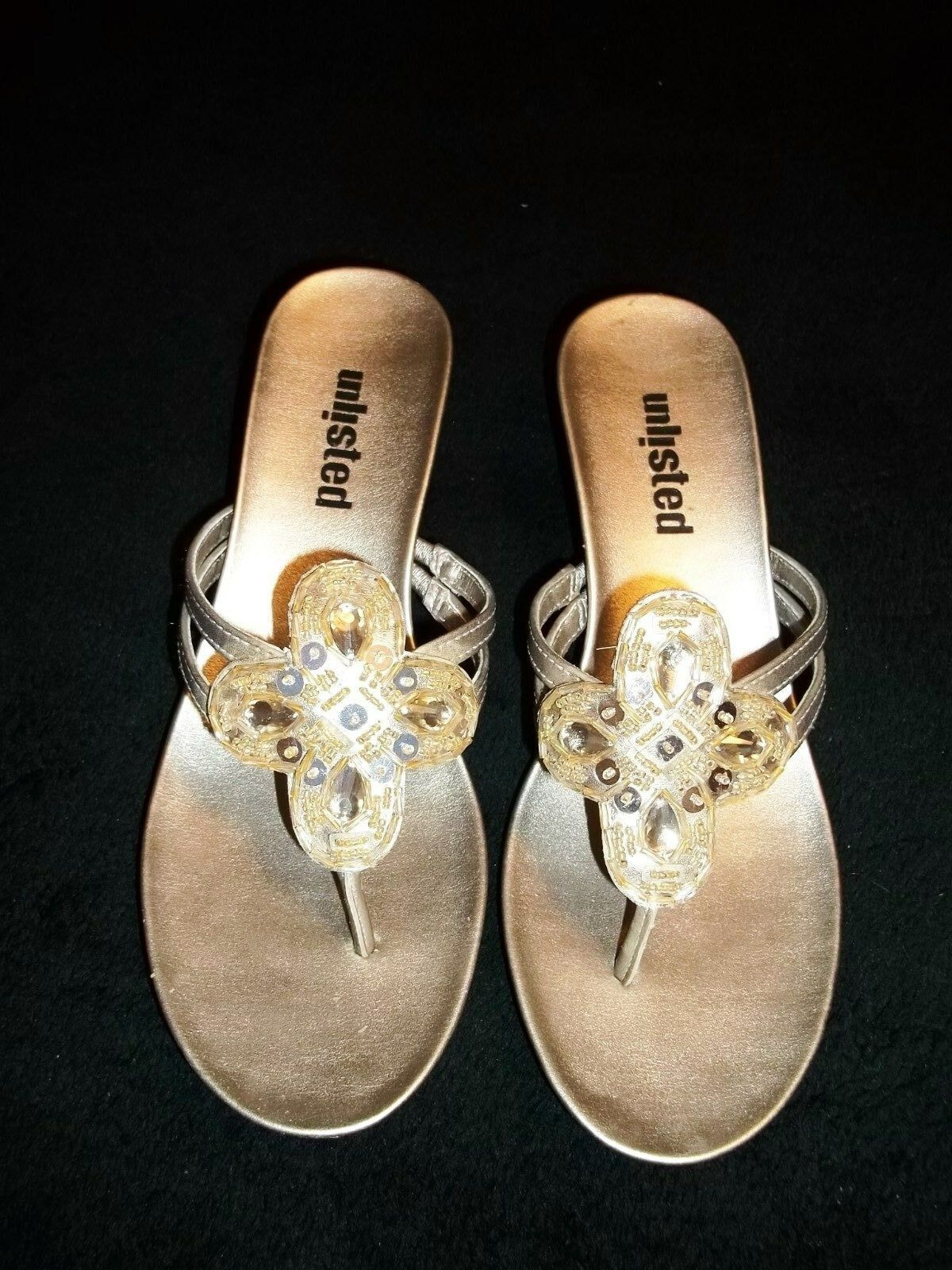 KENNETH COLE UNLISTED Champagne Gold Mules Sandals M Shoes BOBBIN Size 6 M Sandals 5e943f