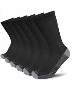 Men's Moisture Control Cushion Crew Work Boot Socks (4/6 Pack)