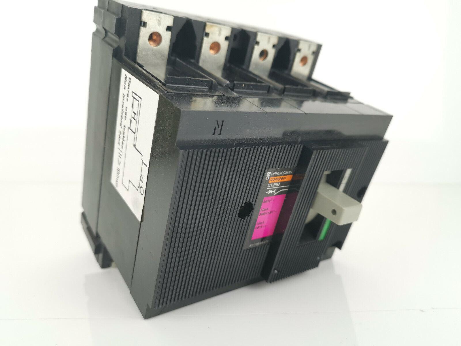 Image 1 - Merlin Gerin Schneider C125H 63A Power Switch 41379