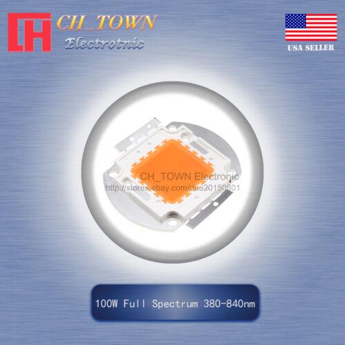 1Pcs 100W Watt High Power Full Spectrum 380-840nm SMD LED Chip COB Lamp Lights