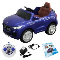 Kids 6v Licensed Maserati Ride On Car Rc Remote Control Opening Doors Mp3 Blue