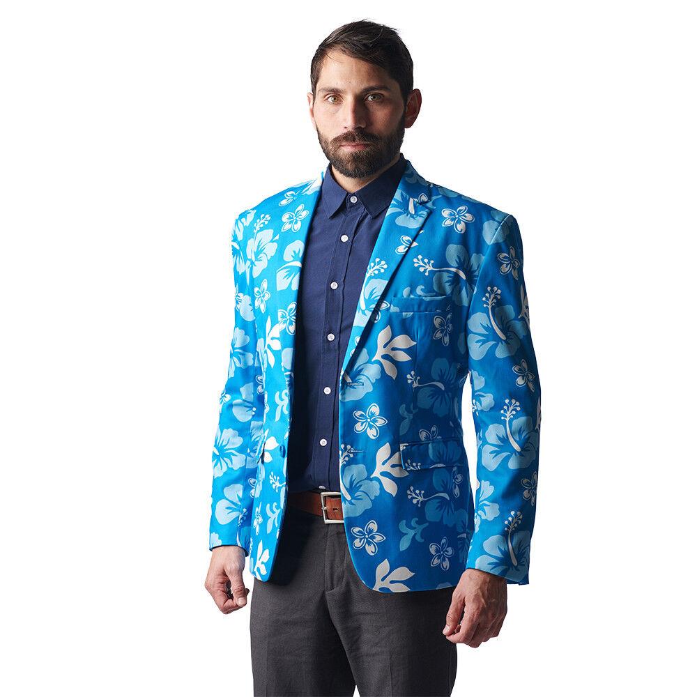 The Big Kahuna Blau Floral Print Costume Blazer