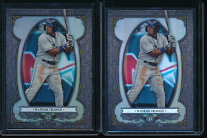 Lot-of-2-WANDER-FRANCO-2019-Bowman-Chrome-Sterling-Tampa-Bay-Rays-Rookie-RC