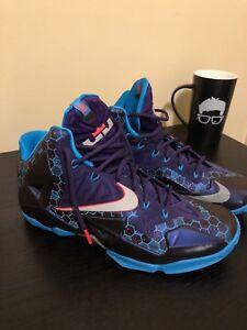 3cd80ecf5f96 Nike Lebron 11 XI Summit Lake Hornets Size 8.5 616175-500 Purple ...