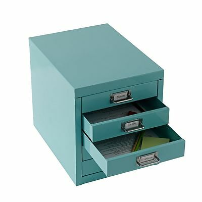 NEW A4 Drawer Mini Filing Unit Blue 5 Storage Cabinet Office Furniture