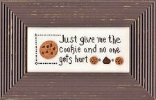 GIVE ME THE COOKIE ~ My Big Toe ~ Counted Cross Stitch CHART Pattern NEW