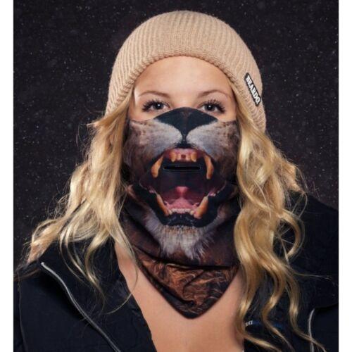 Beardo Lion Ski Face Cover Mask Fleece Anti-Microbial Breathe Hole Anti-Fogging