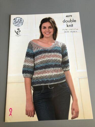Top /& Cardigan King Cole Knitting Pattern 4079 71//76-112//117cm