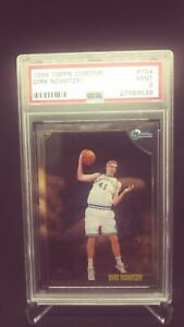 1998-Topps-Chrome-Dirk-Nowitzki-ROOKIE-RC-154-PSA-9-MINT