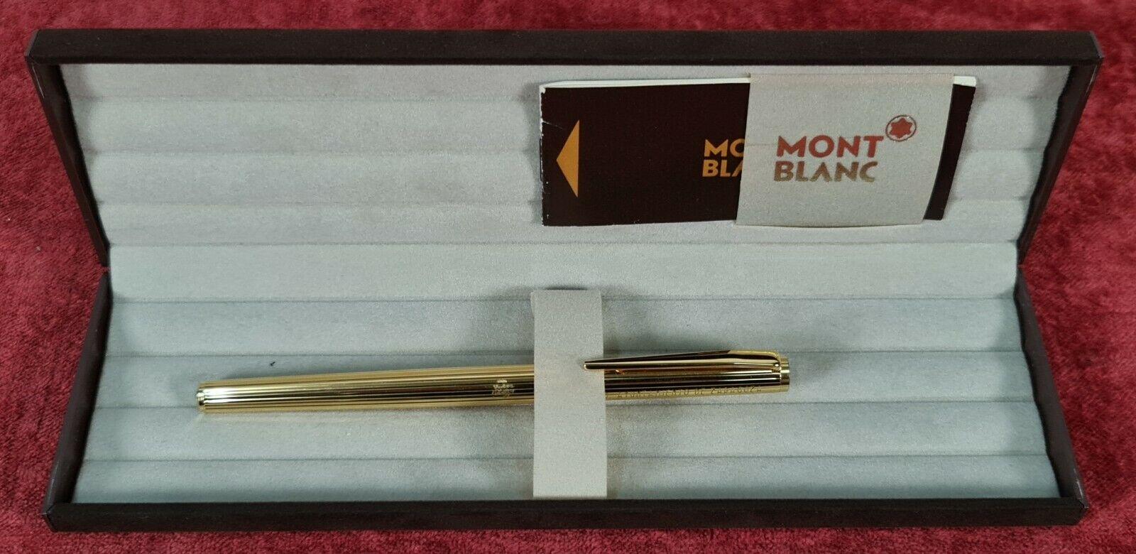 MONTBLAN NOBLESSE PEN. MODEL 1157. 14 KT GOLD PLATED METAL. CIRCA 1970.