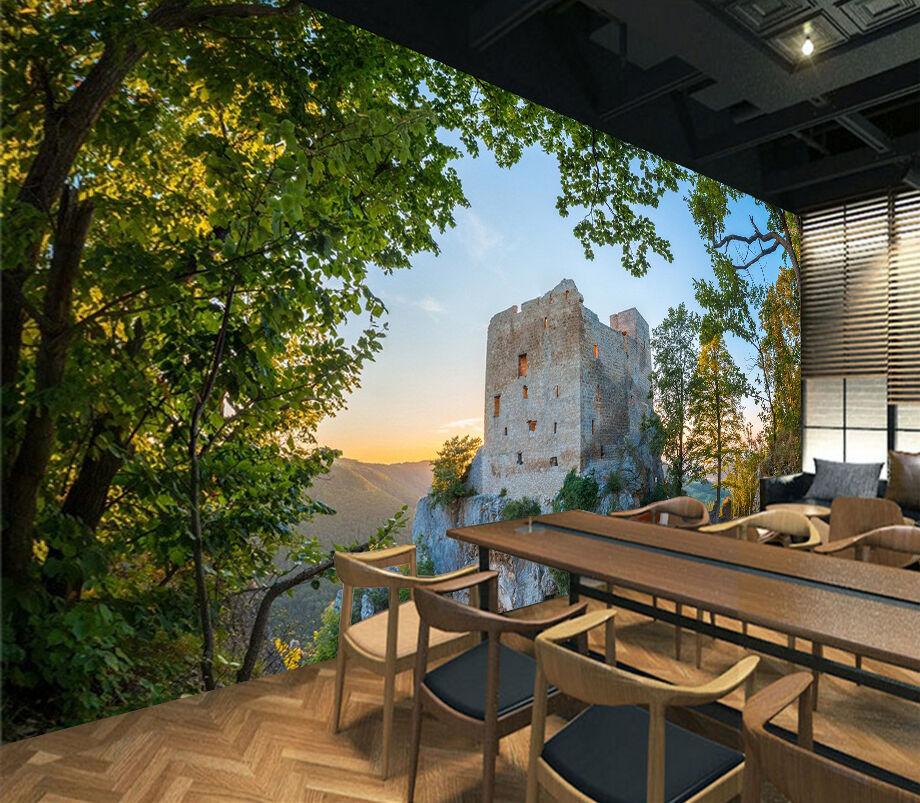 3D Albero Verde 5 Parete Murale Foto Carta da parati immagine sfondo muro stampa
