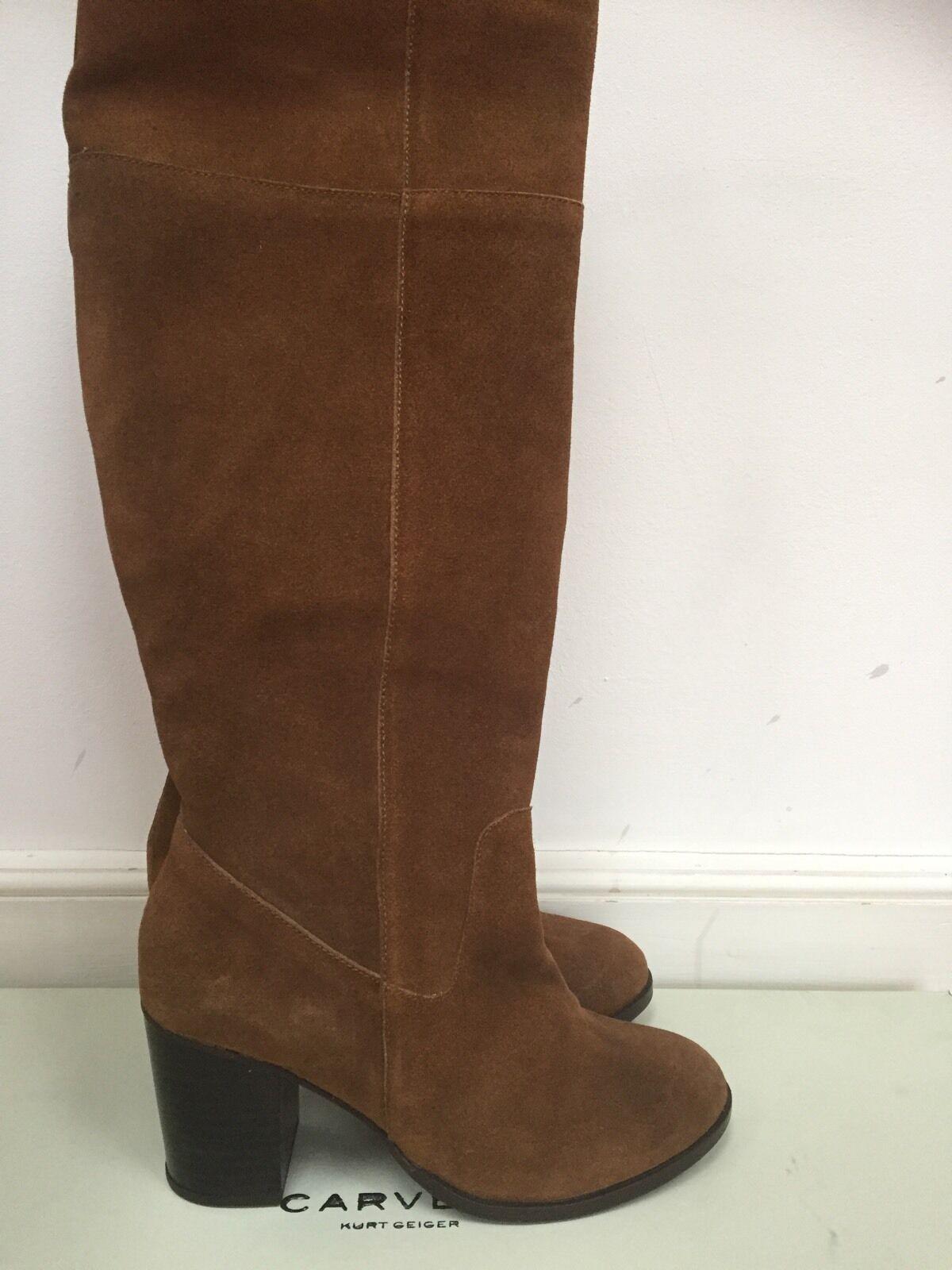Carvela Kurt Geiger Suede Pride Stiefel  Leather schuhe UK 4 Euro 37