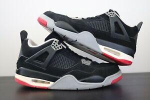Jordan-Men-039-s-US10-2012-Air-Jordan-4-Black-Cement-039-Bred-039-Worn-in-Great-Condition