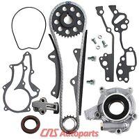 Toyota 22re Timing Chain Kit Oil Pump W/ 2 Hd Steel Guide Rails 22r 85-95 2.4l