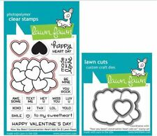 Lawn Fawn Stamp & Die Combo How You Bean? Conversation Heart Add-on 1553 1554
