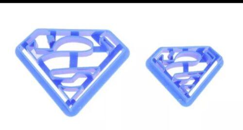 2 Pièce inspirée Superman Fondant Cookie Cutter Décoration Gâteau