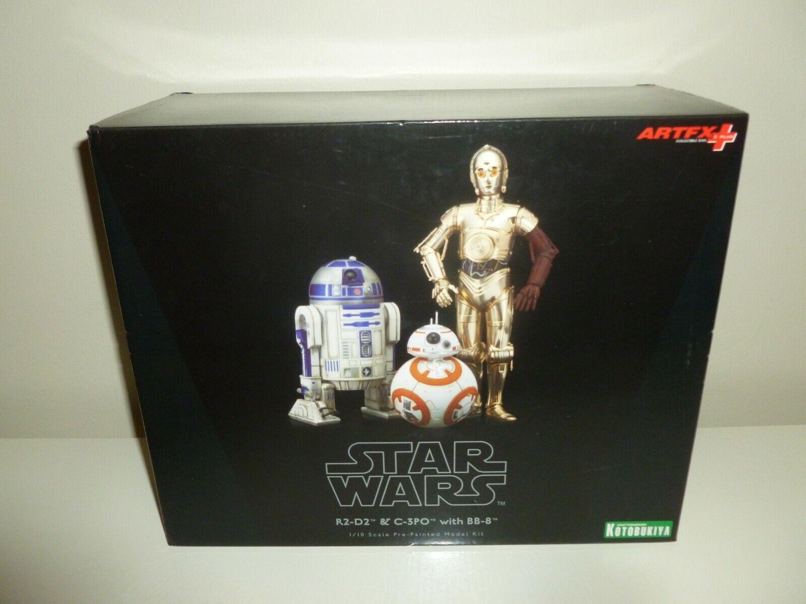 /& BB-8 ARTFX STATUE 3-PACK Star Wars Force Awakens Kotobukiya C-3PO R2-D2