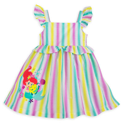 DISNEY STORE WINNIE POOH BABY DRESS /& BLOOMERS NWT ALLOVER YELLOW HEART PRINT