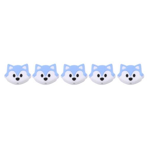 Silicone Fox Teeth Beads Pastel Food Grade Baby Bites Glue Teeth Safe 6A