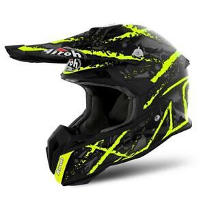 Airoh Terminator Open Vision Carnage Motocross Helmet Off Road Enduro Quad Black