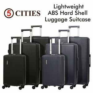 5-Cities-Lightweight-ABS-Hard-Shell-Hold-Check-in-Luggage-Suitcase-amp-Cabin-Bags