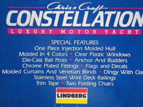 2018 Descontinuado Lindberg 70814 1chris Craft Constellation Modelo De Barco Kit