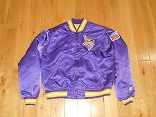 Vintage Starter MINNESOTA VIKINGS Satin Button Authentic Youth NFL Team JACKET L