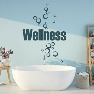 Details zu Wandtattoo Wellness Wandsticker Wandaufkleber Badezimmer Spruch  KW023