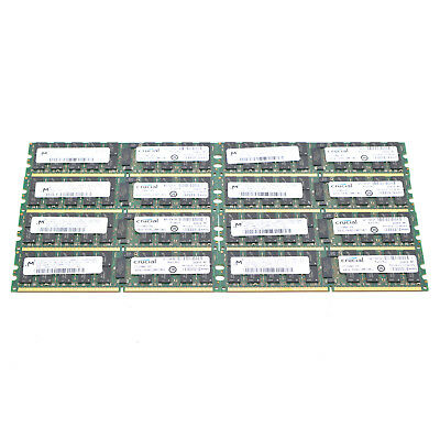 Lot of 8 8x4GB 32GB PC2-5300P 2Rx4 Parity Server RAM Memory For Dell HP IBM