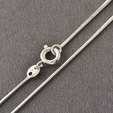 14K White Gold Filled Mens Womens Boys Snake Chain Necklace 23-24 inches