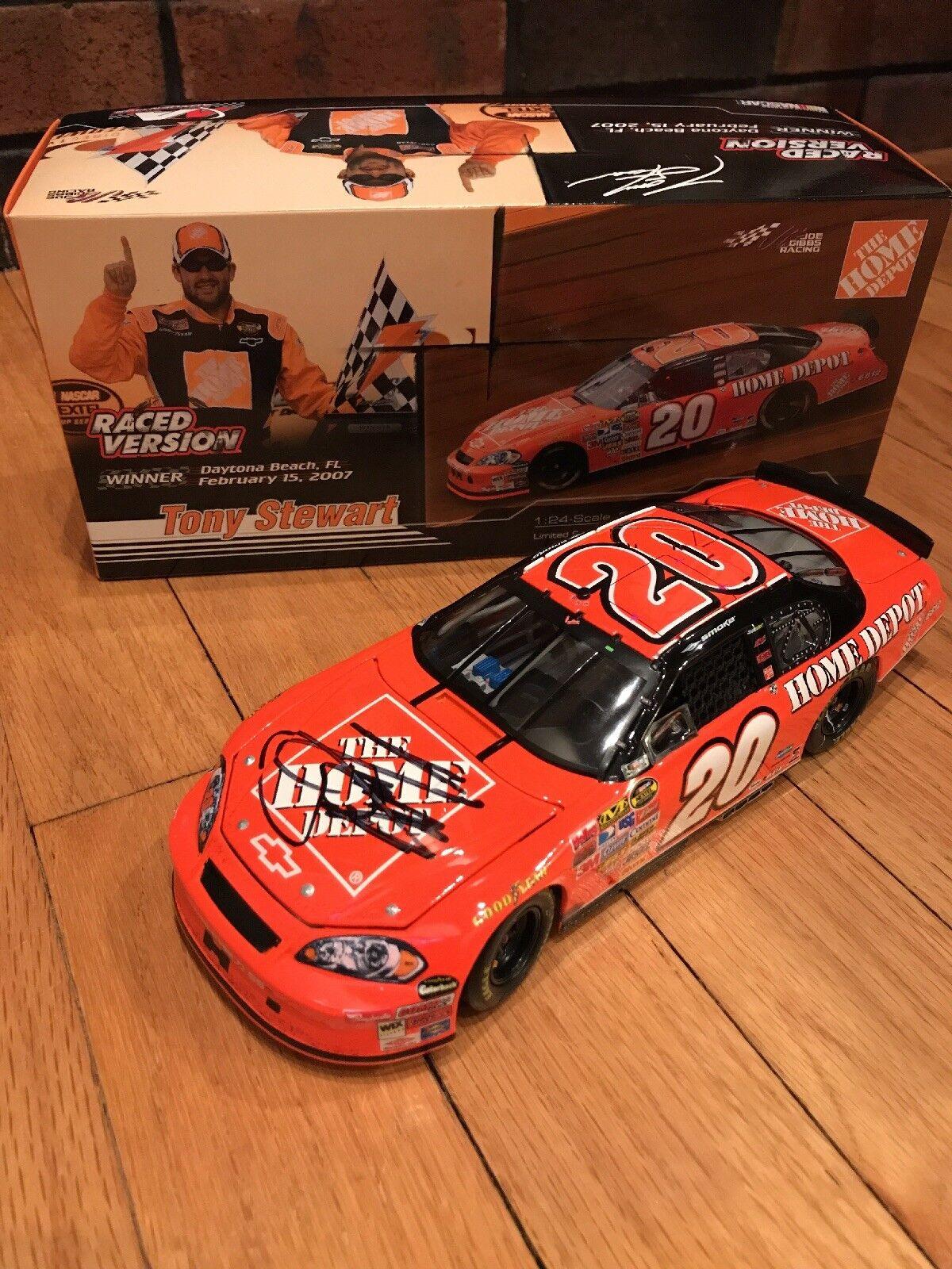 Tony Stewardt 1 24 Daytona 125 Raced Autographed 2007