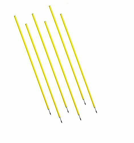 BluDot Trading Plastic Poles w Metal Spike for Soccer  Football Training 6pcs