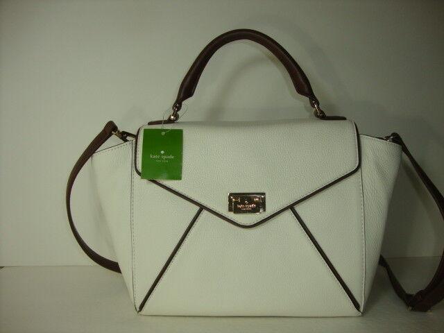 Kate Spade Laurel Wesley Place Shoulder Bag Satchel Purse Ivory Leather Ebay
