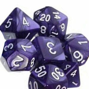 7X-TRPG-Spiele-Dungeons-amp-Dragons-D4-D20-Multi-seitig-wuerfelt-Lava-Lila-I0J0