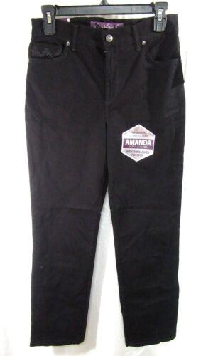Women/'s Gloria Vanderbilt Embellished Slimming Amanda Jeans Black Size 6P