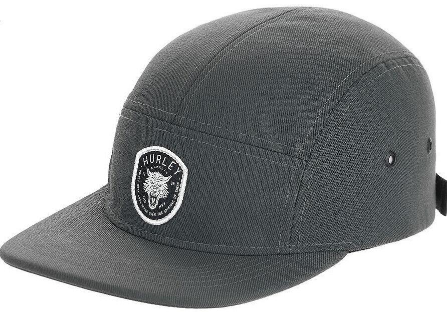 Hurley Men/'s Dri-FIT Coastal Wolf Adjustable 5 Panel Camper Hat Cap