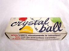 CRYSTAL BALL VINTAGE ANNI 80!NUOVO E SIGILLATO!COLORE ROSSO!FONDO DI MAGAZZINO!